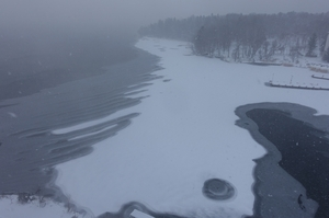 阿寒湖に薄氷が!