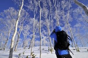 樹氷林を超えて摩周湖第三展望台へ