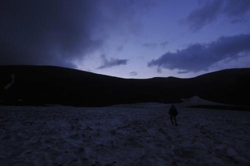 大雪山緑岳ご来光へ