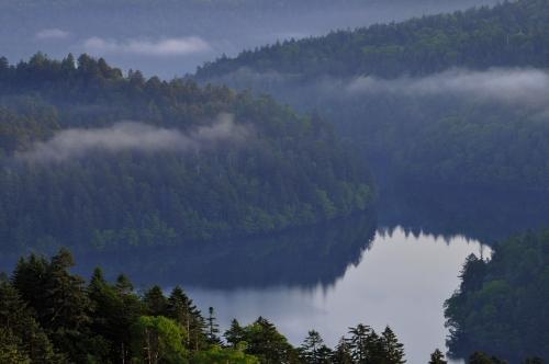 早朝の双湖台