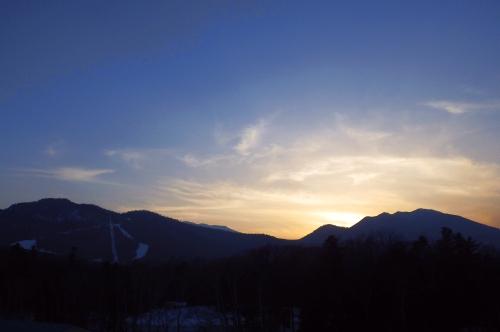 春色の夕焼け