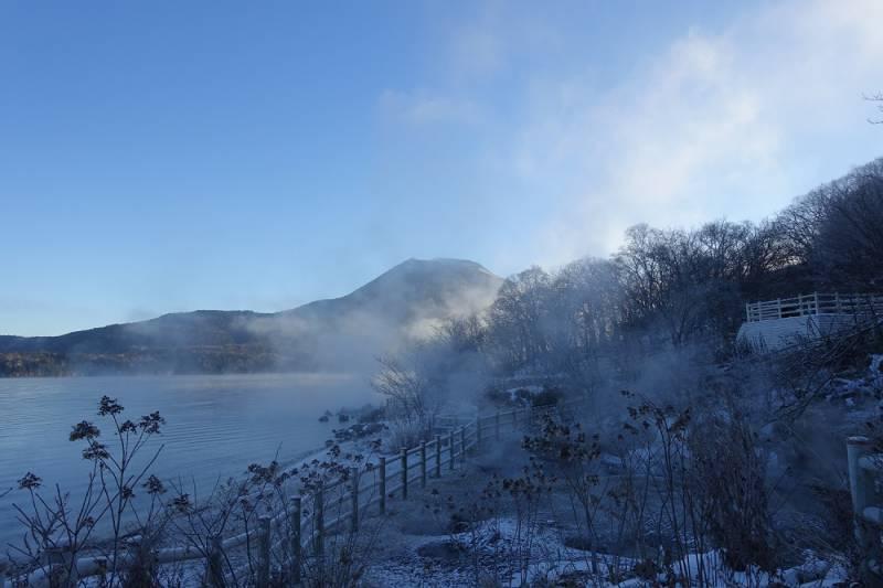 阿寒湖ボッケ 氷点下15℃の朝