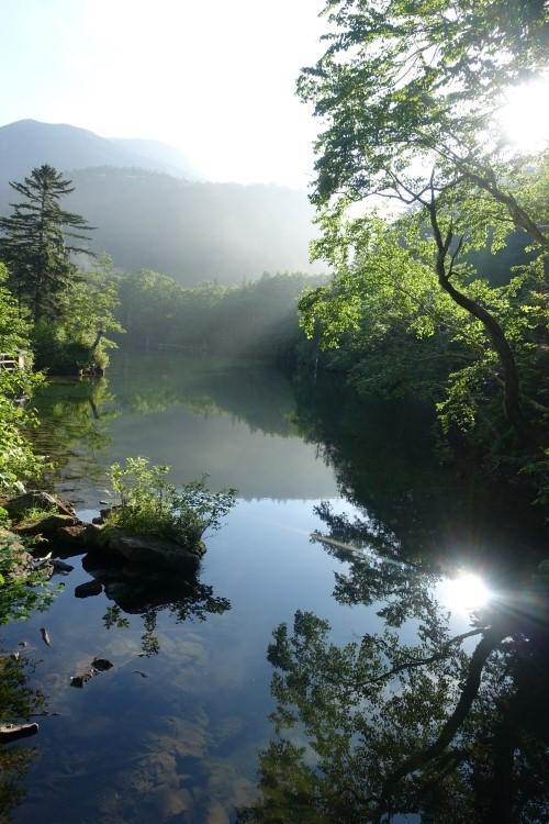早朝におすすめ!阿寒湖滝口と滝見橋