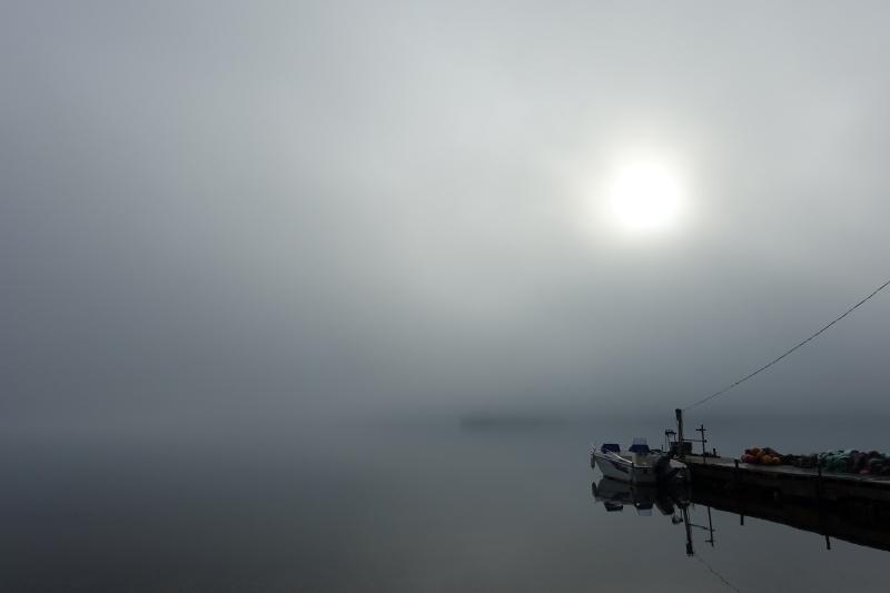 9月8日の早朝阿寒湖